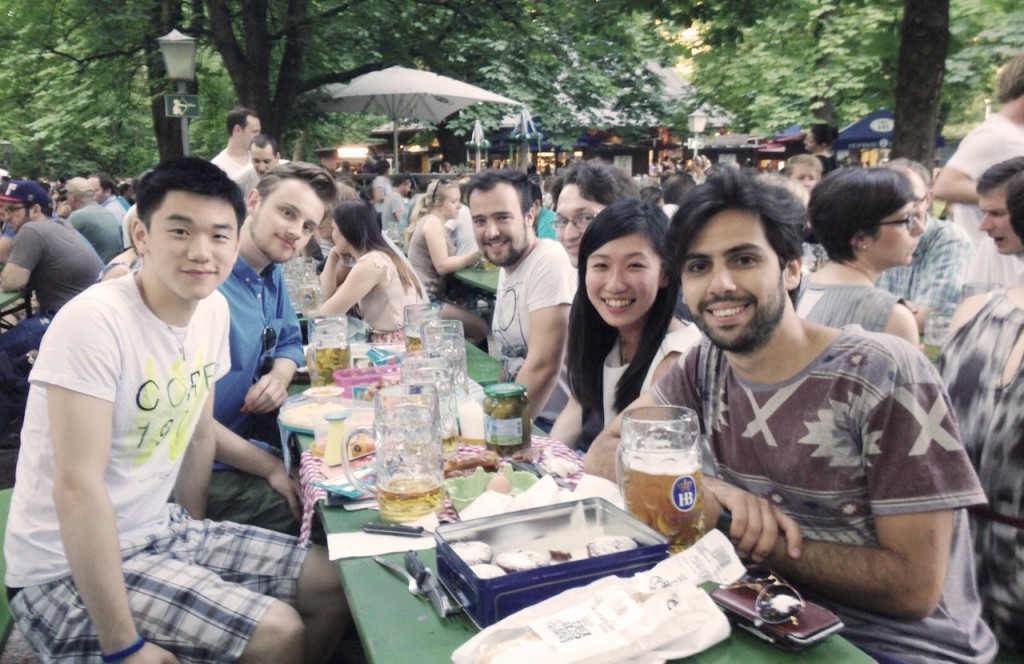 HRinstruments goes beer garden - so muss ein Münchner Startup aussehen