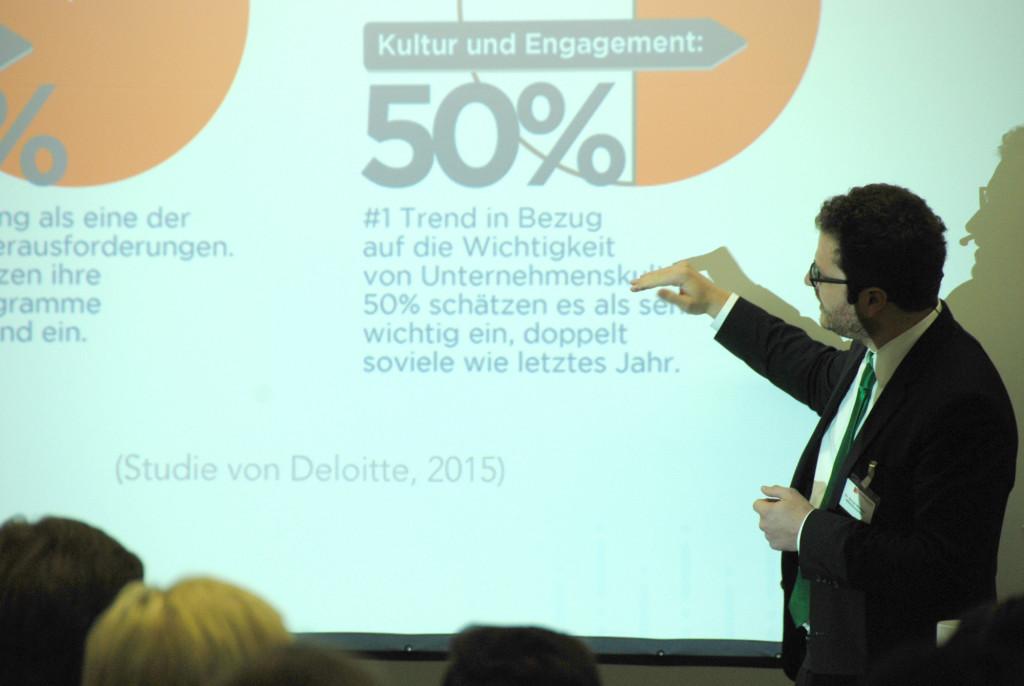 Vortrag von Dr. Simon Werther von HRinstruments auf der Personalmesse München 2015