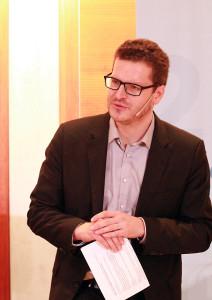 """Dr. Simon Werther auf der Veranstaltung """"Digital. Flexibel. Selbstbestimmt?"""" von BVDS, Cisco Systems und dem DGB"""