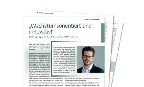 Interview mit Prof. Dr. Simon Werther im Fachmagazin Lohn+Gehalt